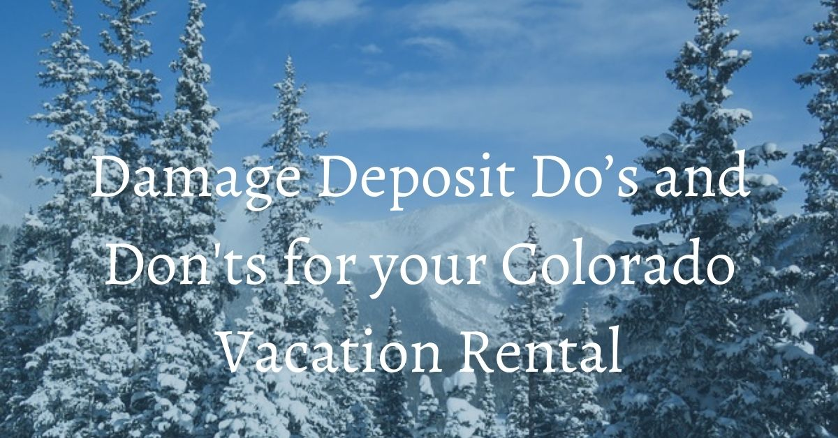 damage deposit vacation rental